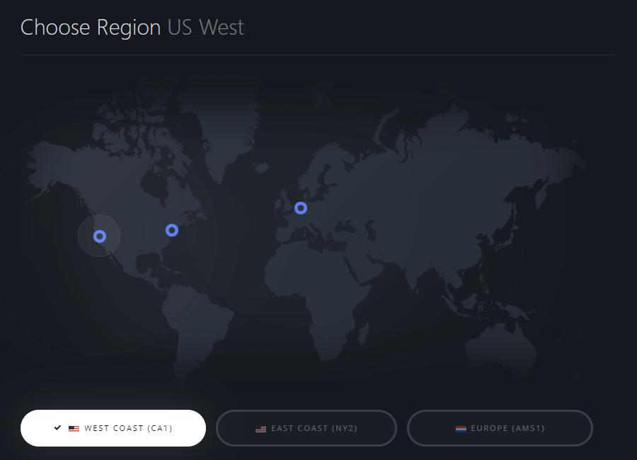 Choose region